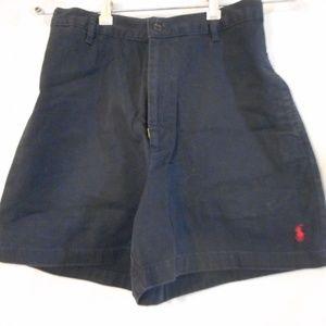 Size 8 Ralph Lauren Sport Shorts Black red logo